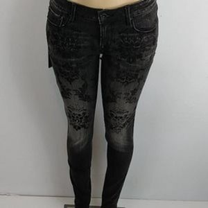 Cult of Individuality Aged Black Zen Flora Jeans